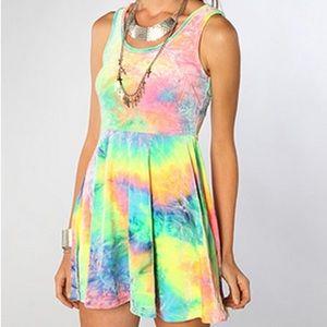 Velvet tie dye dress